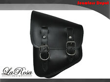 La Rosa Harley Softail Rigid Black Leather LaRosa Left Swing Arm Saddle Bag