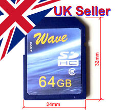Big Old Size Full Capacity Wave 64GB SD Card (32x24mm)