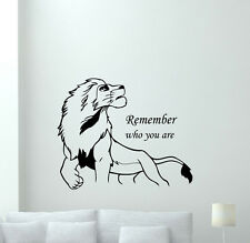 Lion King Simba Wall Decal Remember Who You Are Vinyl Sticker Decor Mural 49crt
