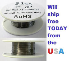 Kanthal 31 AWG 0.22606mm A-1 Wire 100ft Roll (30 meters) 10.6 Ohms/ft Resistance