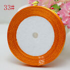 "NEW Free Shipping wedding festival 25 Yards 3/8""10mm Craft Satin Ribbon Orange"