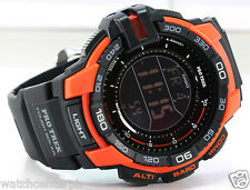 Casio ProTrek PRG270-4D Triple Sensor Version 3.0 Black Orange - Watchcenterph