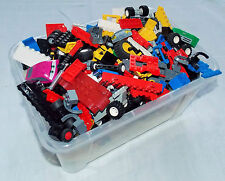 LEGO® 25 Autoteile Zubehör Scheiben Fahrgestell Lenkrad Räder usw. Konvolut