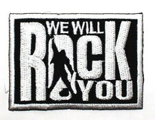 Queen WE WILL ROCK YOU NEW OF THE WORLD BRITISH LONDON ROCK BAND IRON ON PATCH