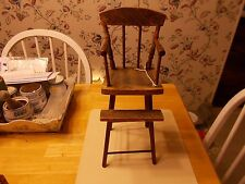 LATE 1800S EARLY 1900S BABY'S OWN HIGH CHAIR WITH IMPRESSED DESIGN ON BACK SEAT