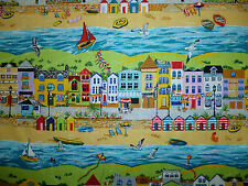 CLEARANCE  FQ SUMMER BEACH HUTS SAND SEA BEACH FABRIC BOATS