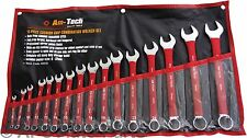 New 16pc Cushion Grip Combination Spanner Wrench set CR-V Garage Mechanic Home
