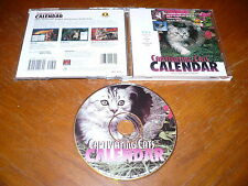 Captivating Cats Calendar with Screen Saver PC CD-ROM Cedco 1996 for Windows 95