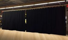 Lot of (2) New!! Stage/Curtain Backdrop/Partition 8 H x 15 W (8 H x 30 W total)