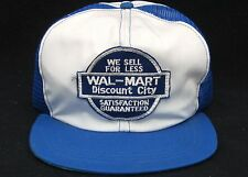 Vintage RARE NOS Wal Mart Discount City USA 60s 70s Patch Mesh SnapBack Hat Cap