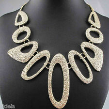 New Style Design Lady Bib Statement skull crystal multi chunky chain necklace