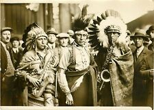 """UNITED STATES INDIAN RESERVATION BAND 1931"" Photo originale G. DEVRED/ Agce ROL"