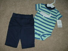 NEW Baby Boys Carters Whale 2pc Outfit Set Size 3 Months 3M 0-3 mos Clothes NWT