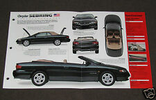 1998 CHRYSLER SEBRING Car SPEC SHEET BROCHURE PHOTO BOOKLET