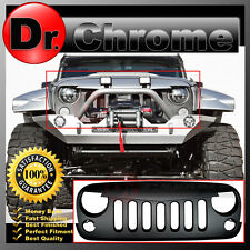 07-16 Jeep JK Wrangler Front Hood Paintable Matte Black Replacement Grille Shell