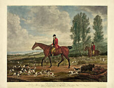 "Fox Hunting, Hounds, antique decor, Horses, by Richard Davis, 20""x16"" Art Print"