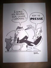 RARE ILLUSTRATION PLANTU / LIBERTE PRESSE - CULTURE / IMPRIMERIE CHAIX