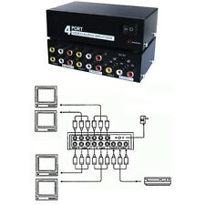 4way/port 3RCA Audio/Video/Stereo/TV/DVD/VCR Y/Splitter,Distribution Amplif