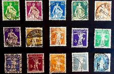 ANTIQUE RARE COLLECTIBLE SET OF SWITZERLAND SWISS POSTAGE STAMPS