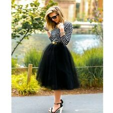 Custom-made 7 Layer Midi Tulle Skirt American Apparel Tutu Skirts Womens Pettico
