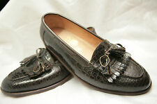 Amazing Bespoke John Lobb Brown Crocodile Tassel Loafers Shoes UK 9 RRP £11,000+