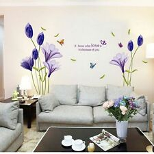 Modern PVC Removable Love Flower Wall Sticker Vinyl Decal Mural Quote Home Decor