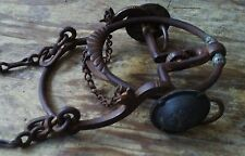 1800 Antique forged iron ring bit horse tack western americana silver conchos