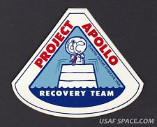 AUTHENTIC VINTAGE SNOOPY APOLLO RECOVERY TEAM NASA SPACE STICKER-DECAL MINT ****