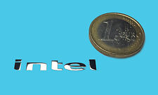 INTEL  METALISSED CHROME EFFECT STICKER AUFKLEBER 31x5mm [49]