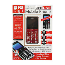 BIG DIGIT BUTTON MOBILE PHONE LARGE DIGITS SOS UNLOCKED SENIOR CITIZEN ELDERLEY