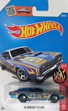 HOTWHEELS 10/10 HW FLAMES 69 MERCURY CYCLONE 100/250 CLASSIC CAR HOT WHEELS