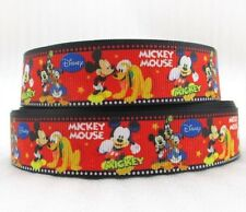 "BTY 1"" Disney Mickey And The Gang Grosgrain Ribbon Hair Bows Scrapbook Lisa"