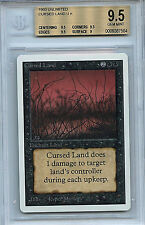 MTG Unlimited Cursed Land BGS 9.5 Gem Mint Magic The Gathering WOTC 7584