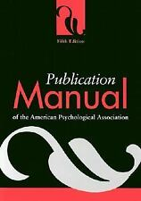 Publication Manual of the American Psychological Association Ser.: Publication M