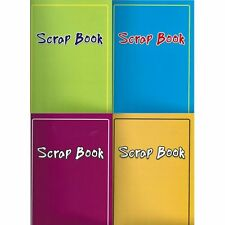 4 x LARGE SCRAPBOOKS SCRAP PHOTO ALBUM BOOKS LAMINATED COVERS COLOUR PAPER 333