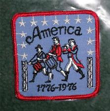 """6 NOS Patriotic American Fife & Drum Bicentennial Patches 3 1/4""""  Iron On  HL"""