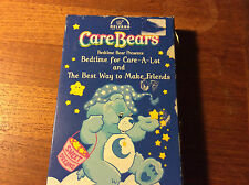 VHS MOVIE. CARE BEARS.BEDTIME BEAR.BEST WAY TO MAKE FRIENDS.NELVANA