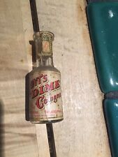 Hoyt German Cologne bottle BEVELED EMBOSSED with tax stamp PA