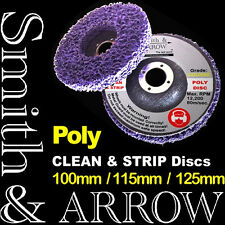 """2 x 4.5"""" POLY STRIP DISC WHEEL CAR PAINT RUST REMOVAL CLEAN ANGLE GRINDER 115mm"""