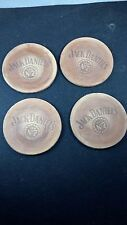 Vintage set of 4 Jack Daniels Leather Coasters barware