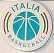 ITALY ITALIA BASKETBALL FEDERATION OFFICIAL OLD PIN BUTTON #1