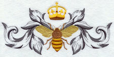 Napoleonic BEE STUNNING DESIGN SET OF 2 BATH HAND TOWELS EMBROIDERED BY LAURA