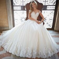 New White/ivory Lace Wedding Dress Bridal Gown Custom Size 4-6-8-10-12-14-16+++