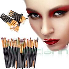 Kit completo 20 Pennelli trucco makeup pennello ombretto blush fondotinta terra