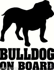British Bulldog On Board, Car Sticker, silhouette. Great Gift For Dog Lover