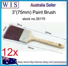 """12x3""""(75mm) Paint Brush,S/S Ferrule,Maple Handle,Synthetic All Purpose-35175"""