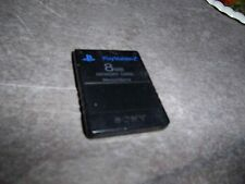 Genuine Official OEM Black Sony PlayStation 2 PS2 8MB Memory Card SCPH-10020