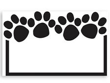50ct. Black & White PAW PRINT Border Blank Florist Enclosure Cards Small Tags