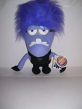 """Despicable Me Purple Wild Hair Two Eyed Evil Minion Plush LARGE 15"""" DAVE BUSTERS"""