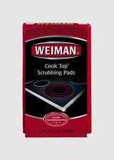 New! 3pk WEIMAN Glass or Ceramic Stove Cooktop Range Scrubbing Cleaning Pads #45